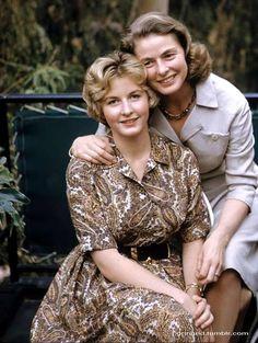 Ingrid Bergman with her daughter, Pia.