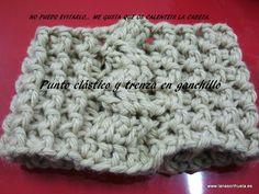 Cuello-turbante realizado con lana gruesa y aguja de ganchillo nº 9