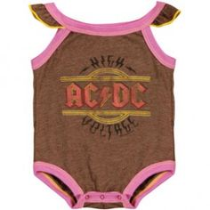 AC/DC Onesie... My daughter will totally be wearing this.