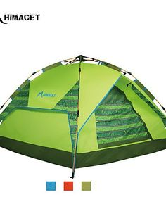 0.5 HIMAGET Brand High Quality 3 Using Way Instant Aluminum Frame Automatic Tent For 3-4 Person Automatic Tent , green *** Insider's special review you can't miss. Read more  : Hiking tents