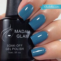 Madam Glam Vintage Blue - swatch by Chickettes.com