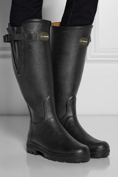 057ab999dd Le Chameau - Vierzon leather-lined rubber boots
