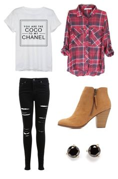 """""""Untitled #15"""" by emdecocq ❤ liked on Polyvore featuring Chanel, Miss Selfridge, Charlotte Russe and Kate Spade"""