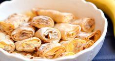 "Banános-vaníliás ""rakott"" palacsinta Beach Meals, Chimichanga, Hungarian Recipes, Hungarian Food, Snack Recipes, Snacks, Something Sweet, Cakes And More, Street Food"