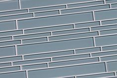 "4""x6"" Sample of Jasper Light Blue Linear Glass Mosaic Tiles for Kitchen Backsplash or Bathroom Walls from Rocky Point Tile"