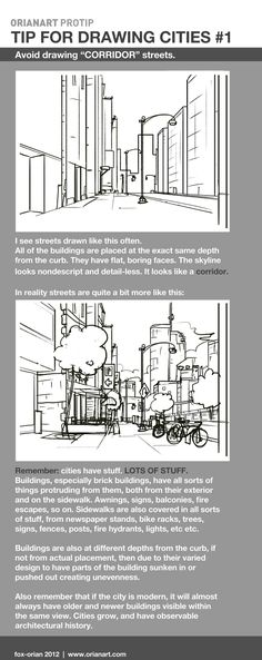 Drawing Cities 1 - Corridor Streets by `fox-orian on deviantART