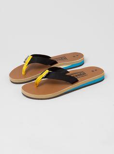 colorful men's flip flops