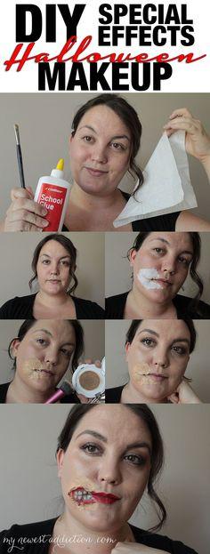 DIY Special Effects Halloween Makeup & cleanup with Neutrogena wipes from @walmart #NeutrogenaFaceOff #ad #cbias http://www.mynewestaddiction.com/2014/10/diy-special-effects-halloween-makeup.html