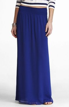 Express chiffon maxi skirt- my favorite piece of clothing I've bought so far this spring # expresslife