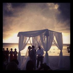 Our Beach Wedding :) Weather provided an amazing backdrop.