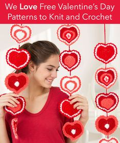 We Love Free Valentine's Day Heart-Inspired Patterns to Knit and Crochet