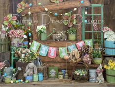 Rustic, Easter, pastels, bunny