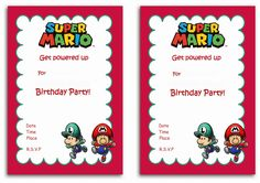 Free Printable Super Mario Bros Invitation Template Free Printable