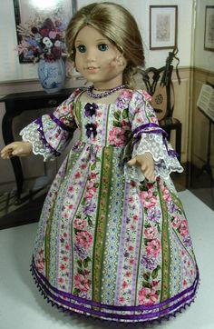 Purple Ivory Dress Fits 18 inch Doll American Girl Such as Felicity Elizabeth | eBay