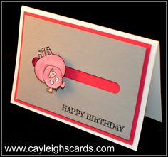 Spinner card tutorial with From the Herd stamp set by Independent Stampin' Up! demonstrator Cayleigh May