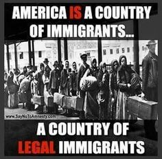 This is why we have laws . This is why we have a process for entering this country. We all see first hand what happens when the laws are ignored and illegals enter without the understanding of whats required from them , and the unreasonable expectations illegals have of the U. S.