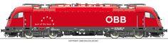 RAILCOLOR.NET - modern locomotive power #Siemens #Eurosprinter #locomotive #trains #railways #railcolor http://www.railcolor.net #obb