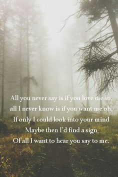 Quote All you never say -Birdy-