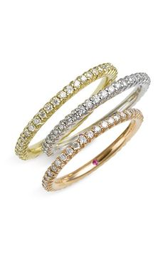 Roberto Coin 'Micropave' Diamond Stackable Ring Have always LOVED these RC rings! Jewelry Box, Jewelry Rings, Jewelery, Silver Jewelry, Diamond Stacking Rings, Stackable Rings, Anniversary Bands, Diamond Design, Diamond Are A Girls Best Friend