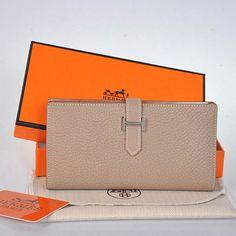 e1d84e317f01 Hermes Wallets  Original leather Hermes 2 flod original leather wallet in  Light grey