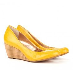 "YELLOW WEDGES!!! Sole Society ""Cassandra"", $49.95"