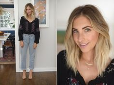 Wednesday: Cupcakes and Cashmere Shirt, Vintage Levis (similar here), Zara Heels (similar here)