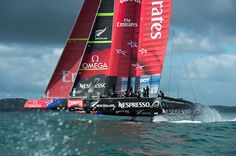 Emirates Team New Zealand's AC72 goes foiling | The Daily Sail