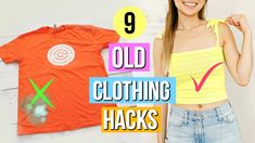 9 DIY Clothing Hacks for Girls! Revamping Old Clothes into New! - YouTube