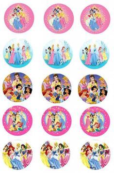 Bottle Cap Images, Bottle Caps, Bottle Top Crafts, Disney Princess Pictures, Girl Birthday, Printables, Scrapbook, Homemade, Prints