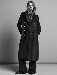 Mango jesień-zima kampania z Kate Moss i Cara Delevingne, somethingincommon Kate Moss, Fantasy Fashion, Cara Delevingne Style, Burberry, Wool Overcoat, High Street Brands, Langer Mantel, Vogue, Mango Fashion