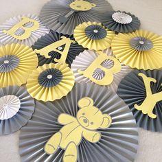 Teddy Bear Paper Fan Set Set of 13 Teddy Bear Backdrop by LanvisB