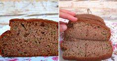 Pan de calabacín sin gluten ni lactosa