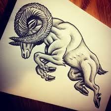 Resultado de imagen para geometric tattoo ram aries