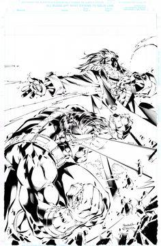 Joe Madureira, Wizard #58 X-Men Cover Comic Art