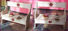 bench tutorial.Beautiful blog in french with lots of tutorials for miniature furnitures