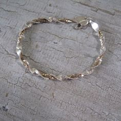 SU Sterling Silver Bracelet by mimiyaya on Etsy, $22.00