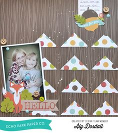 *Echo Park* Hello - Scrapbook.com - Cozy layout created with Echo Park's I Heart Fall collection.