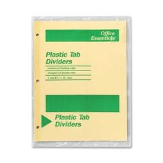 Avery Consumer Products Economy Insertable Dividers, 5 Tabs, Clear, (934756)