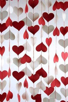Are you going to have a party on Valentine's Day? Are you the host? if yup, here are Valentine's Party Decorations Ideas for you. Almost inseparable colors for parties on Valentine&… My Funny Valentine, Valentines Day Party, Valentines Day Decorations, Valentine Day Crafts, Heart Decorations, Valentines Presents, Outdoor Decorations, Valentine Ideas, Paper Decorations