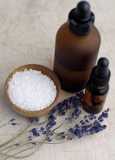 diy bath salts: 1 cup (250 ml) Epsom salts • 1 cup (250 ml) sea salt • 3-5 drops essential oil of your choice • Zipper-type plastic baggie or tightly-lidded jar • Food coloring, optional • Jar