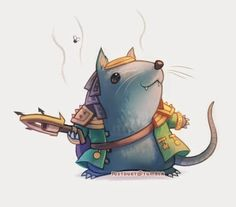 Only people who know/play league of legends would know this: It's a really cute version of Twitch :D