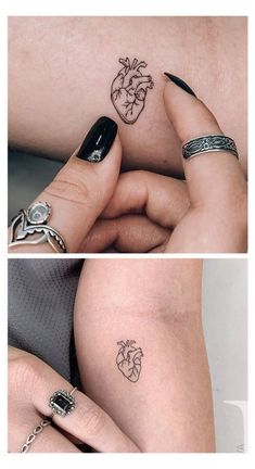 Realistic Heart Tattoo, Simple Heart Tattoos, Tiny Heart Tattoos, Tiny Tattoos For Girls, Dainty Tattoos, Wrist Tattoos For Women, Heart Tattoo Designs, Mini Tattoos, Tattoos For Women Small