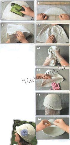 Шляпка-клош - Валяние шарфов, шалей, палантинов