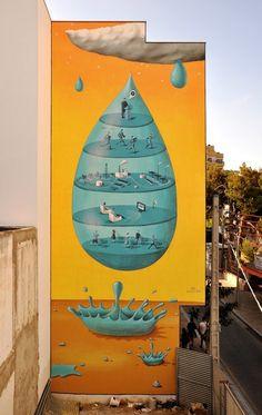 Street-Art by Interesni Kazki  #street art #Illustration
