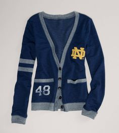 Notre Dame Vintage Varsity Cardigan. They didn't have Mizzou, so I settled with this. I still really want it though!