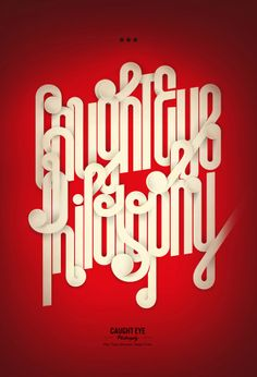 Caught Eye Philosophy by André Beato #graphicdesign #typography