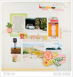 #papercraft #Scrapbook #layout.  Crate Paper Cacti Love Layout  Project Life Leftovers - Melissa Stinson - Crate Paper