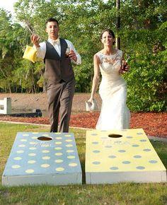 Classic cornhole, with a wedding twist | Brides.com