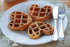 Keto Macadamia Nut Butter waffles (no flour - 1 egg, macadamia nut butter, coconut oil + blueberries)