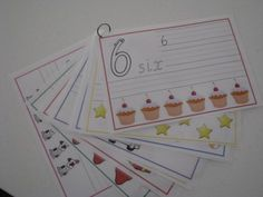 These Number Tracing Cards are a FREE printable that can be laminated to allow kids to draw on with a white board marker and it easily wipes away with a tissue.  Kids can practise writing their numbers correctly, wipe it away and try again.